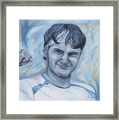 Roger Federer Framed Print by Nikolett Komeny