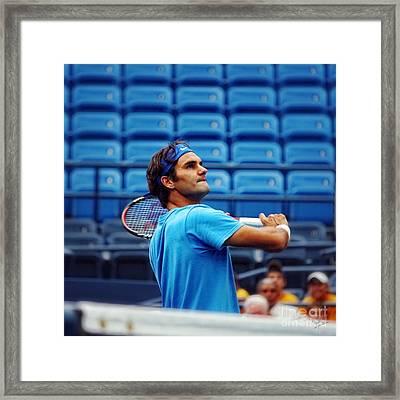 Roger Federer  Framed Print by Nishanth Gopinathan