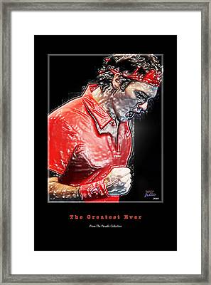 Roger Federer  The Greatest Ever Framed Print by Joe Paradis