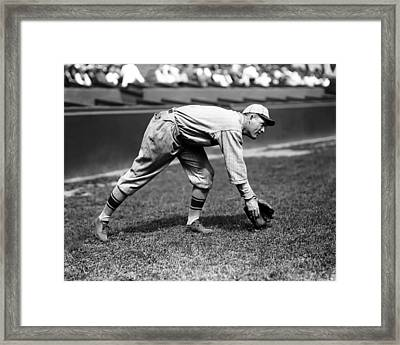 Rogers Hornsby Fielding Practice Framed Print by Retro Images Archive