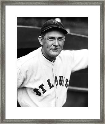 Rogers Hornsby Looking Into Camera Smiling Framed Print by Retro Images Archive