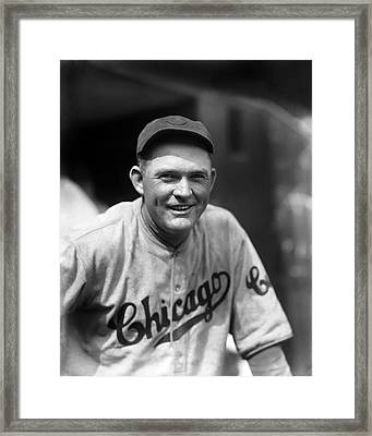 Rogers Hornsby Smiling In Cubs Jersey Framed Print by Retro Images Archive