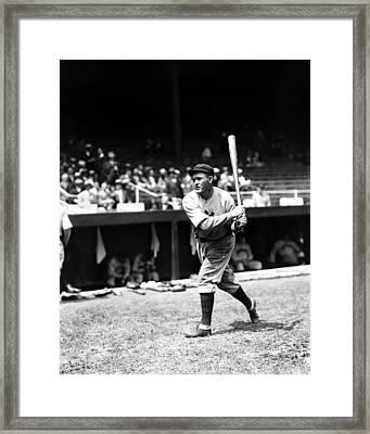 Rogers Hornsby Warm Up Swings Framed Print by Retro Images Archive