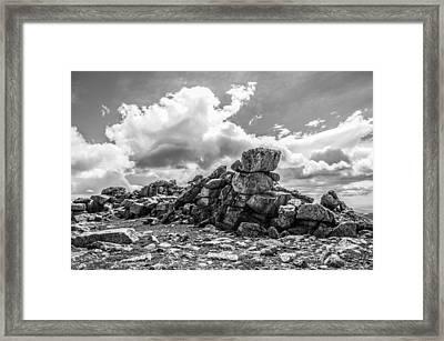 Rogers Peak Summit Framed Print by Aaron Spong