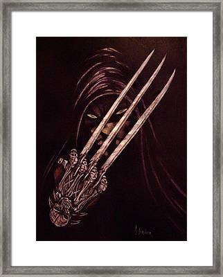 Rogue In The Darkness Framed Print by Alfred Stringer