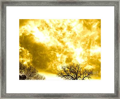Roiling Clouds Framed Print by Chuck Taylor