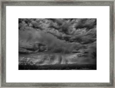 Roiling Sky Framed Print by Judi FitzPatrick