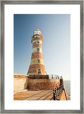 Roker Pier Lighthouse Framed Print by Ashley Cooper