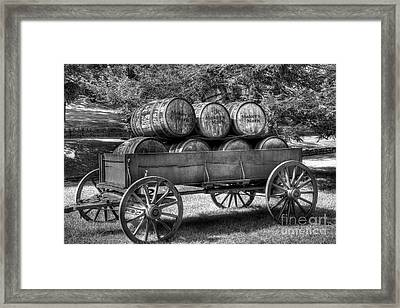 Roll Out The Barrels Framed Print by Mel Steinhauer