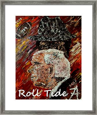 Roll Tide With Bear Bryant And Mal Moore  Framed Print by Mark Moore