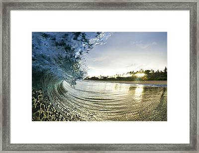Rolled Gold Framed Print by Sean Davey