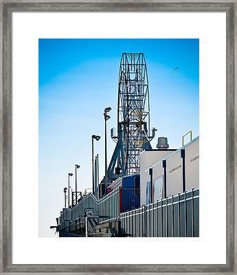 Rollercoaster Framed Print by Trish Tritz