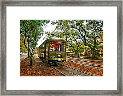 Rollin' Thru New Orleans Painted Framed Print by Steve Harrington