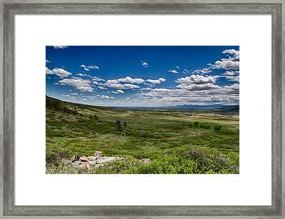 Rolling Hills Framed Print by Tony Boyajian