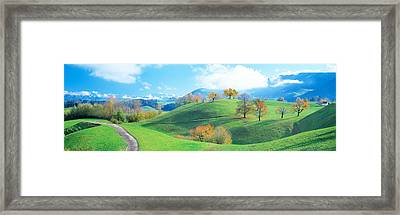 Rolling Landscape, Zug, Switzerland Framed Print by Panoramic Images