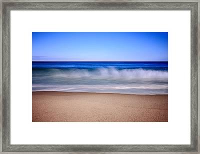 Rolling Ocean Waves Framed Print by Dapixara Art