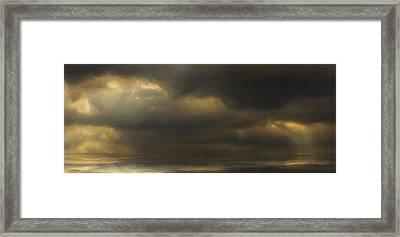 Rolling Sea Framed Print by Ron Jones