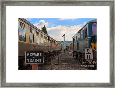 Rolling Stock Of The Gloucestershire Warwickshire Railway Framed Print by Louise Heusinkveld