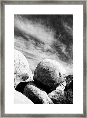 Rolling Stone Bw Joshua Tree Framed Print by William Dey