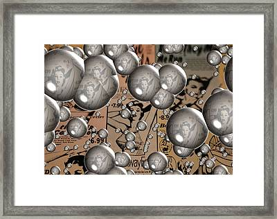 Rolling Stones Bubbles Poster Framed Print by Dan Sproul