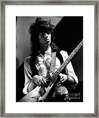 Rolling Stones Keith Richards 1969 Framed Print by Chris Walter