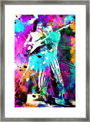 Rolling Stones Framed Print by Rosalina Atanasova