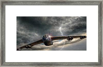 Thundering B-52 Framed Print by Peter Chilelli
