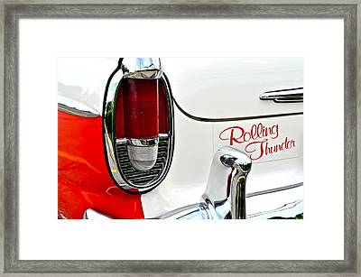 Rolling Thunder Framed Print by Frozen in Time Fine Art Photography