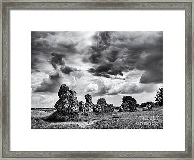 Rollright Stones Framed Print by Tim Gainey