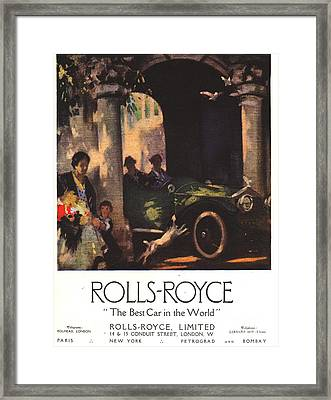 Rolls-royce 1917 1910s Uk  Cars Framed Print by The Advertising Archives