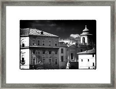 Roma Roof Tops Framed Print by John Rizzuto