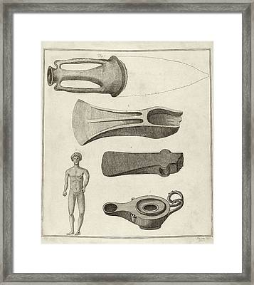 Roman Artefacts Framed Print by Middle Temple Library