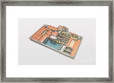 Roman Baths, Artwork Framed Print by Jose Antonio Pe??as