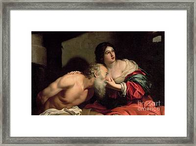 Roman Charity Framed Print by Nicolas Regnier