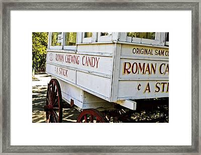 Roman Chewing Candy Framed Print by Scott Pellegrin