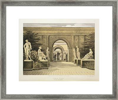 Roman Court Framed Print by British Library