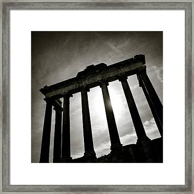 Roman Forum Framed Print by Dave Bowman