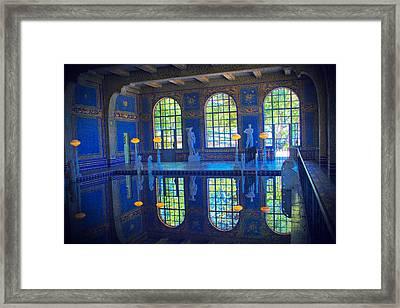 Roman Pool Reflection Hearst Castle Framed Print by Heidi Smith