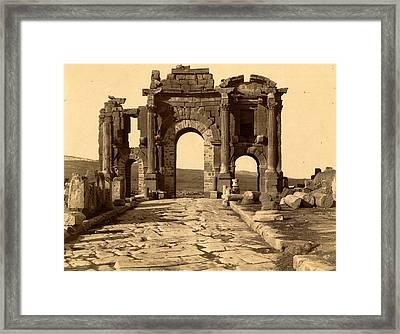 Roman Ruins Thamugas, Arc De Triomphe, Algiers, Neurdein Framed Print by Litz Collection