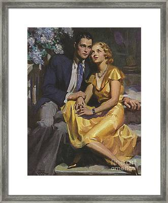 Romance  1933 1930s Uk Womens Story Framed Print by The Advertising Archives