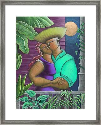 Romance Jibaro Framed Print by Oscar Ortiz