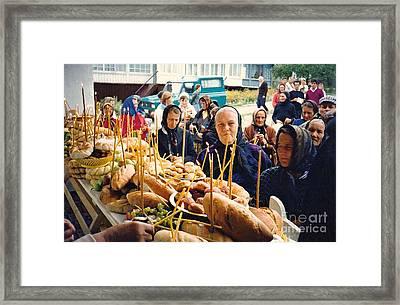 Romanians Celebrating Transfiguration Framed Print by Sarah Loft