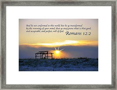 Romans Chapter 12 Verse2 Framed Print by Arlene Rhoda Nanouk