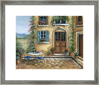 Romantic Courtyard Framed Print by Marilyn Dunlap