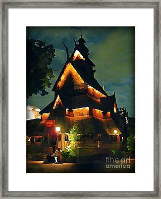 Romantic Evening For Two Framed Print by John Malone