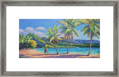 Romantic Hanalei Bay Framed Print by John Clark