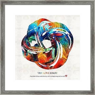 Romantic Love Art - The Love Knot - By Sharon Cummings Framed Print by Sharon Cummings