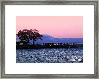 Romantic Seascape  Framed Print by Carol F Austin