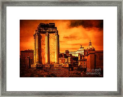 Rome Burning Framed Print by Prints of Italy