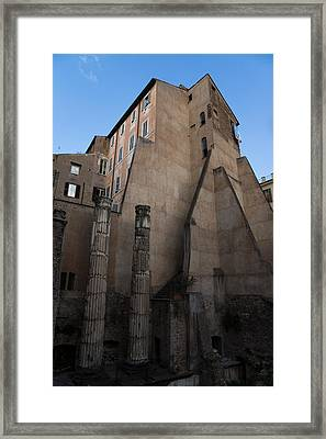 Rome - Centuries Of History And Architecture  Framed Print by Georgia Mizuleva